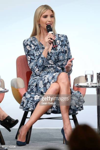 Ivanka Trump daughter of US President Donald Trump speaks on stage at the W20 conference on April 25 2017 in Berlin Germany The conference part of a...