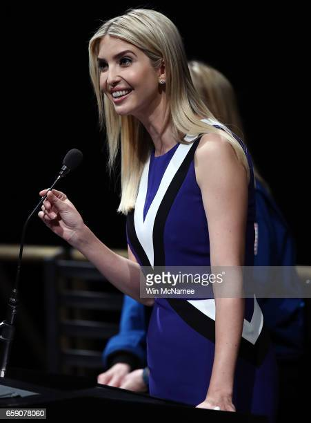 Ivanka Trump delivers remarks at the Smithsonian National Air and Space Museum during an event highlighting women who study Science Technology...