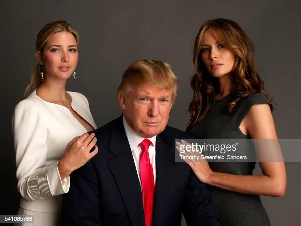 Ivanka Trump, Donald Trump and Melania Knauss