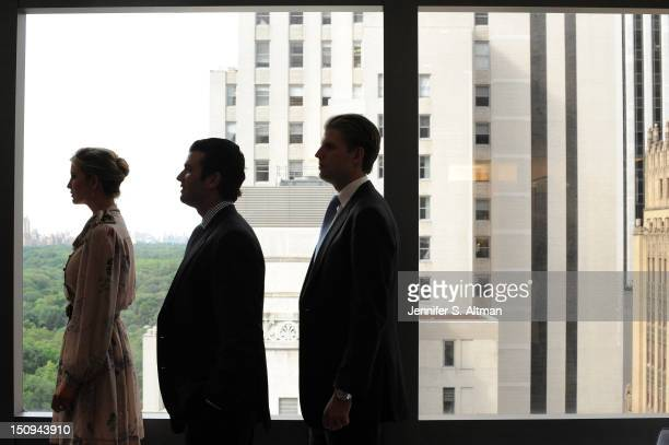 Ivanka Trump Donald Trump Jr and Eric Trump are photographed for the Washington Post on June 6 2012 in New York City
