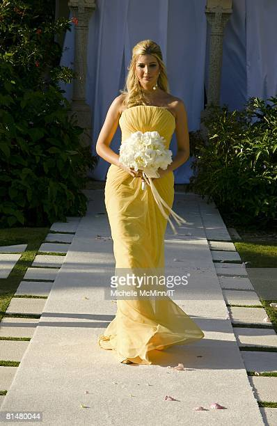 RATES Ivanka Trump during the wedding of Ivana Trump and Rossano Rubicondi at the MaraLago Club on April 12 2008 in Palm Beach Florida Maid of Honor...
