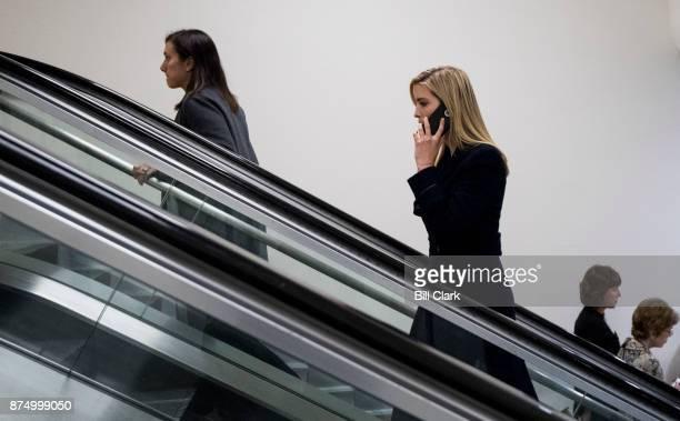 Ivanka Trump enters the US Capitol via the Senate subway on Thursday Nov 16 2017