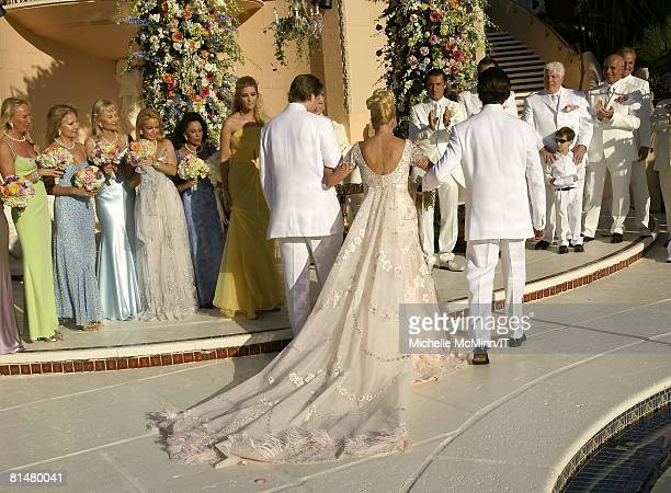 RATES Ivanka Trump Eric Trump Ivana Trump Rossano Rubicondi and Donald Trump Jr during the wedding of Ivana Trump and Rossano Rubicondi at the...