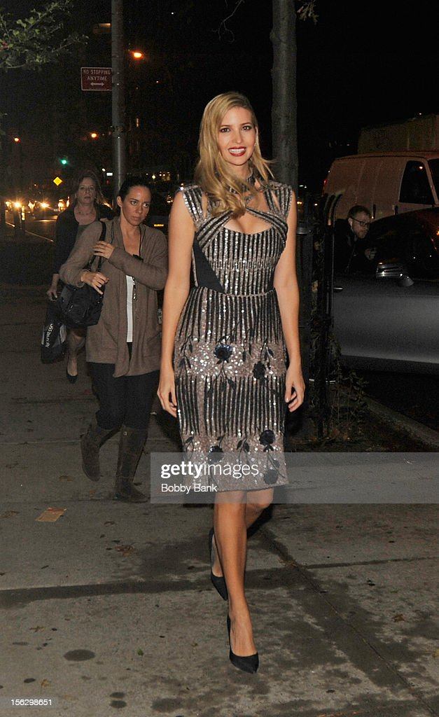 Ivanka Trump filming on location for 'Celebrity Apprentice All Stars' on November 12, 2012 in New York City.