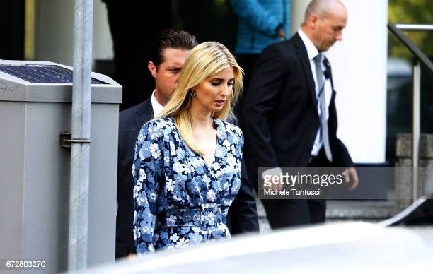 Ivanka Trump First Daughter and Advisor to the President of the United States of America leaves the W20 conference on April 25 2017 in Berlin Germany...