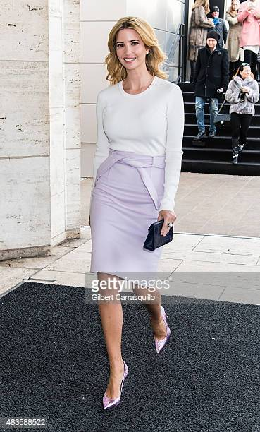 Ivanka Trump is seen arriving at Carolina Herrera fashion show during MercedesBenz Fashion Week Fall 2015 at Lincoln Center on February 16 2015 in...