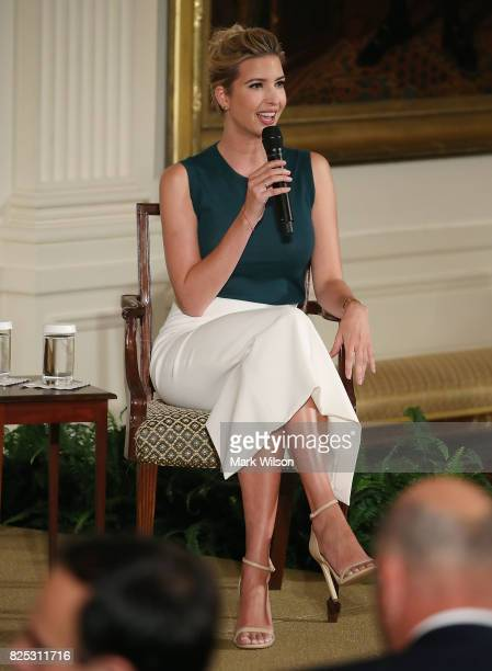 Ivanka Trump participates in a small business event in the East Room of the White House on August 1 2017 in Washington DC