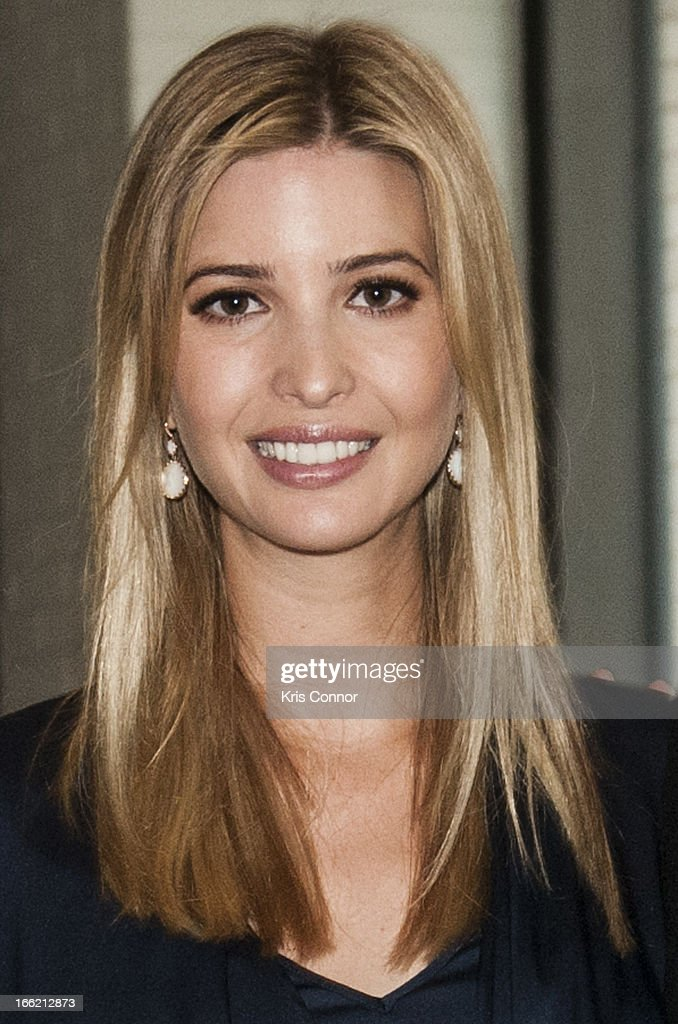 Ivanka Trump poses for a photo during a forum on 'Washington real estate -- including plans to renovate the landmark Old Post Office on Pennsylvania Avenue and views on property values and trends in Washington.' at Washington Post on April 10, 2013 in Washington, DC.