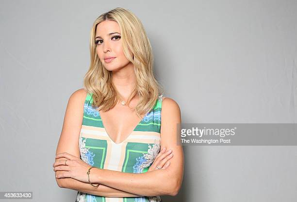 Ivanka Trump poses for a portrait inside the Trump Tower in Manhattan NY on July 16 2014