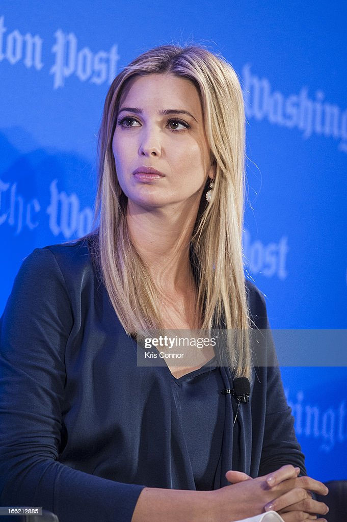 Ivanka Trump speaks during a forum on 'Washington real estate -- including plans to renovate the landmark Old Post Office on Pennsylvania Avenue and views on property values and trends in Washington.' at Washington Post on April 10, 2013 in Washington, DC.