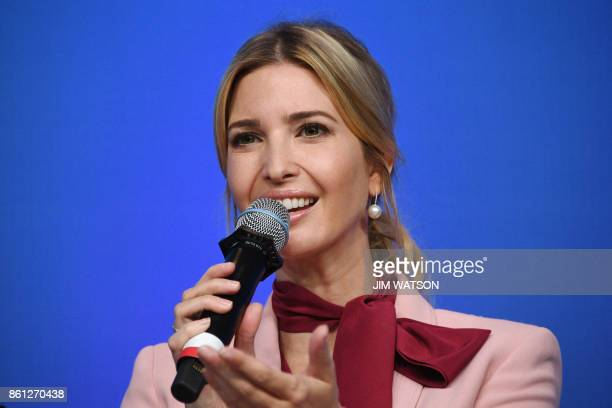 Ivanka Trump speaks during a session named 'Taking womenowned businesses to the next level' as part of the World Bank and International Monetary Fund...