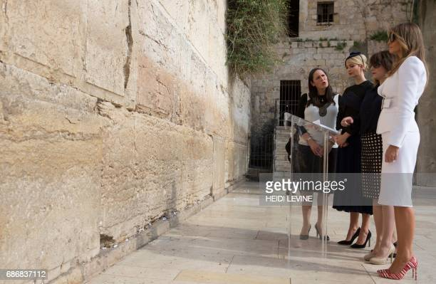 Ivanka Trump the daughter of US President Donald Trump and First Lady Melania Trump visit the Western Wall the holiest site where Jews can pray in...