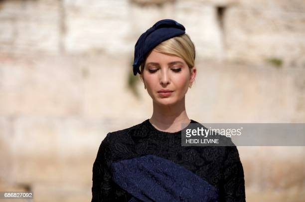 Ivanka Trump the daughter of US President Donald Trump is seen during a visit to the Western Wall the holiest site where Jews can pray in Jerusalems...