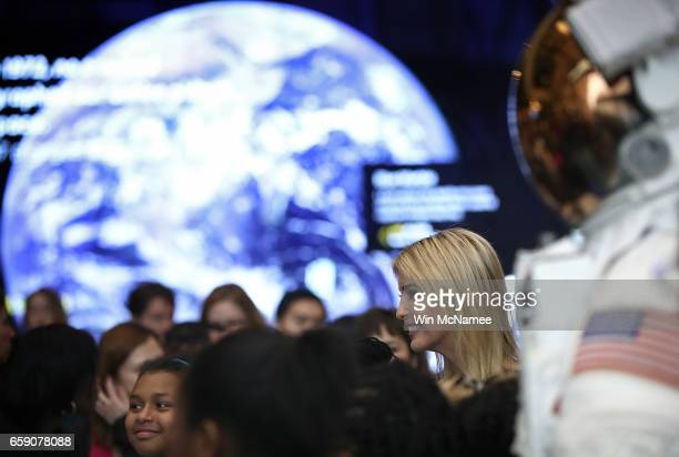 Ivanka Trump tours the Air and Space Museum during an event highlighting women who study Science Technology Engineering and Mathematics March 28 2017...