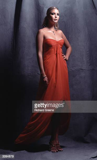 Ivanka Trump wearing a Carolina Herrera gown poses for a portrait June 23 2002 in New York City