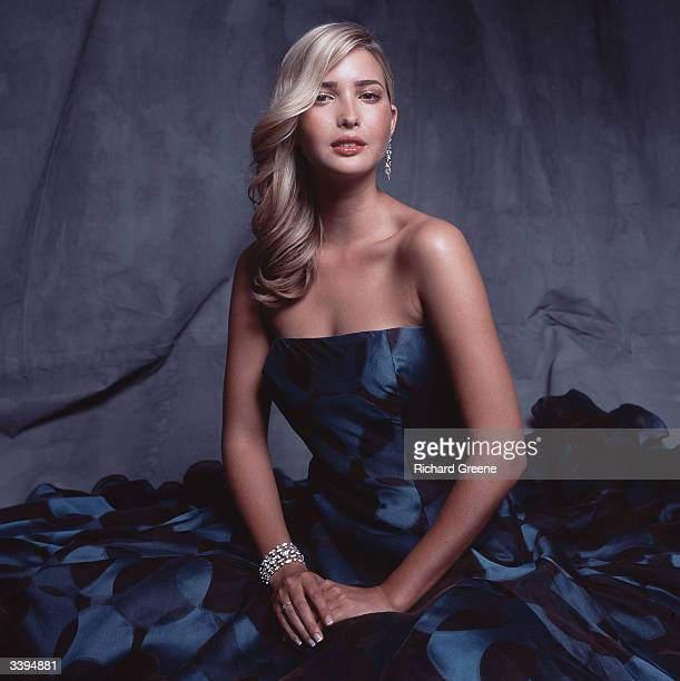 Ivanka Trump wearing a Douglas Hannant gown poses for a portrait June 23 2002 in New York City