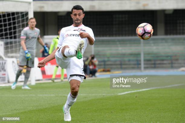 Ivaylo Chocev of US Citta di Palermo in action during the Serie A match between AC ChievoVerona and US Citta di Palermo at Stadio Marc'Antonio...