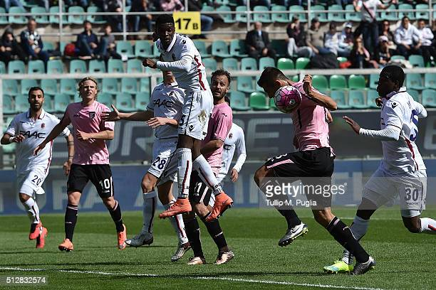Ivaylo Chochev of Palermo in action during the Serie A match between US Citta di Palermo and Bologna FC at Stadio Renzo Barbera on February 28 2016...