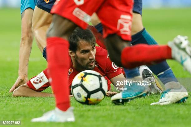 Ivelin Popov of FC Spartak Moscow in action during the Russian Football League match between FC Zenit St Petersburg and FC Spartak Moscow at Saint...