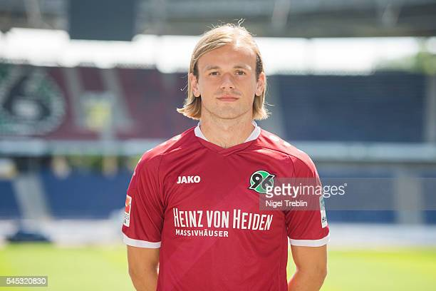 Iver Fossum poses during the team presentation of Hannover 96 on July 7 2016 in Hanover Germany