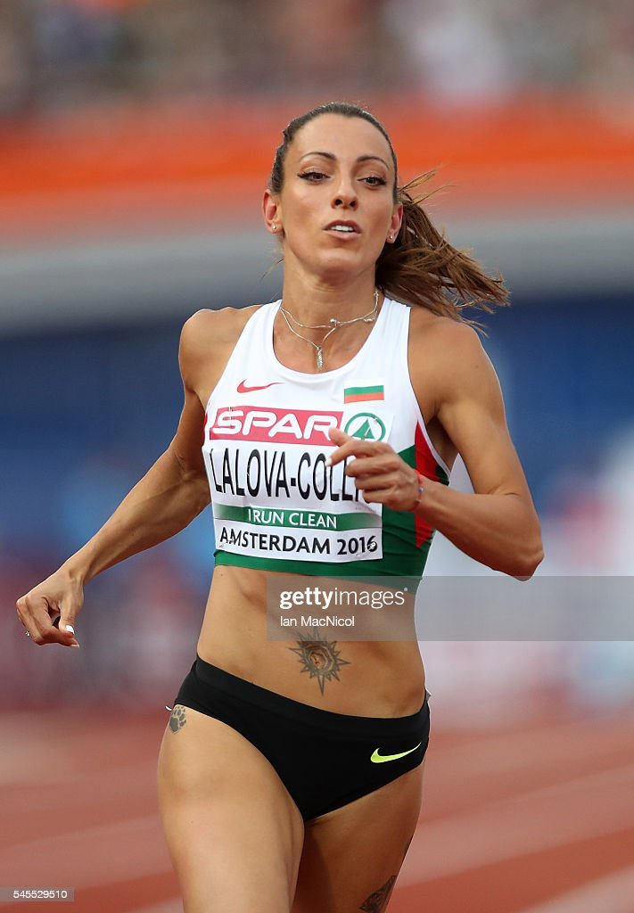 Ivet LalovaCollio of Bulgaria in action during the semi final of the womans 100m on day three of The 23rd European Athletics Championships at Olympic...