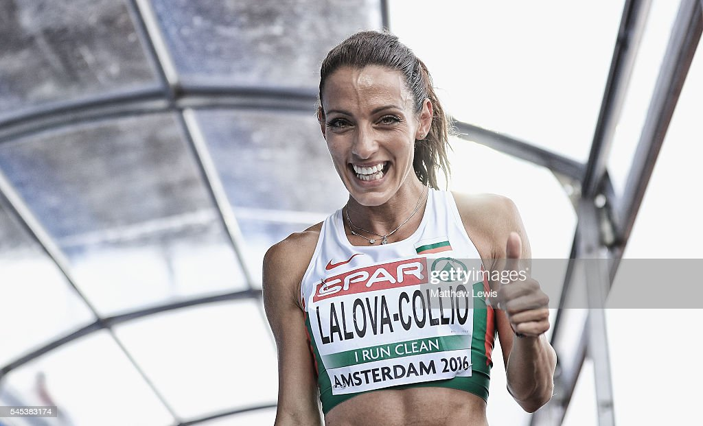 Ivet LalovaCollio of Bulgaria looks on after coming second inthe womens 200m Final during day two of the 23rd European Athletics Championships at...