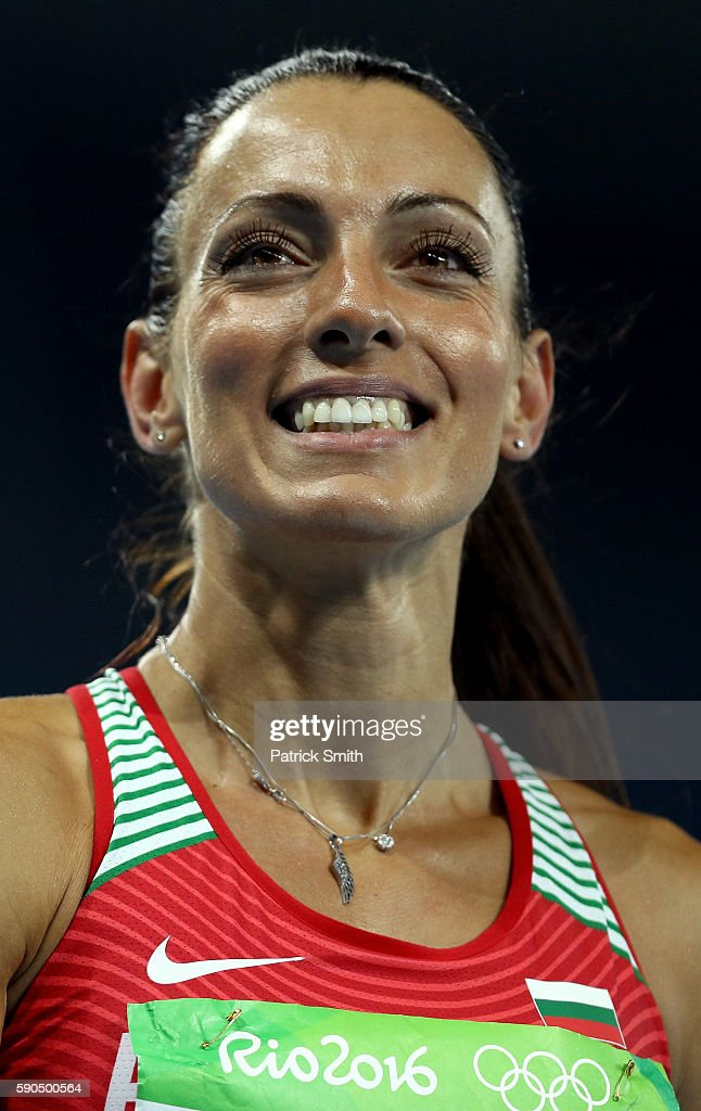 Ivet LalovaCollio of Bulgaria reacts during the Women's 200m Semifinals on Day 11 of the Rio 2016 Olympic Games at the Olympic Stadium on August 16...