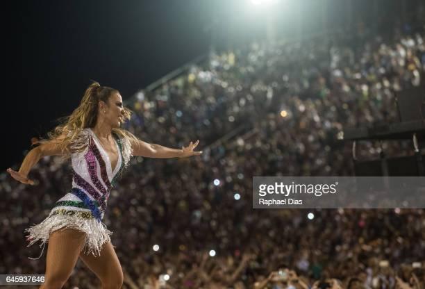 Ivete Sangalo dances during Grande Rio performance at the Rio de Janeiro Carnival at Sambodromo on February 26 2017 in Rio de Janeiro Brazil