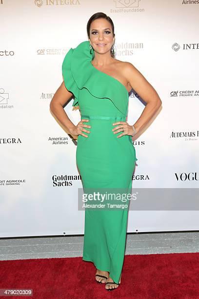 Ivete Sangalo Latin Grammy Award winner is seen at the third annual BrazilFoundation Gala Miami at Perez Art Museum Miami on March 15 2014 in Miami...