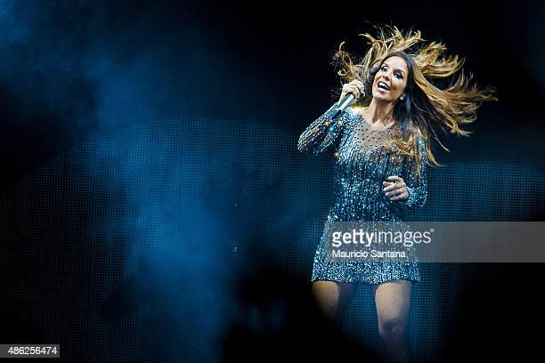 Ivete Sangalo perform in Sao Paulo at Espaco das Americas on August 21 2015 in Sao Paulo Brazil