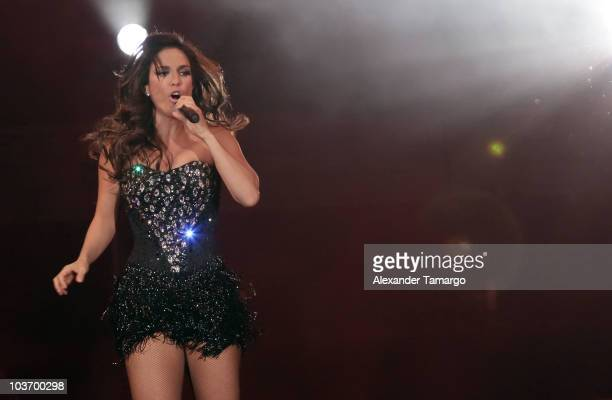 Ivete Sangalo performs at AmericanAirlines Arena on August 28 2010 in Miami Florida