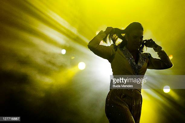 Ivete Sangalo performs on stage during a concert in the Rock in Rio Festival on September 30 2011 in Rio de Janeiro Brazil Rock in Rio Festival comes...