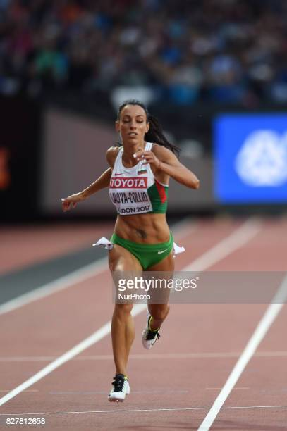 IvetLALOVACOLLIO Bulgaria during 200 meter heats in London at the 2017 IAAF World Championships athletics on August 8 2017