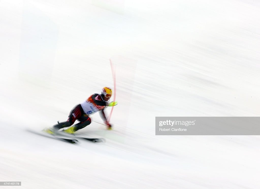 <a gi-track='captionPersonalityLinkClicked' href=/galleries/search?phrase=Ivica+Kostelic&family=editorial&specificpeople=241265 ng-click='$event.stopPropagation()'>Ivica Kostelic</a> of Croatia competes during the Alpine Skiing Men's Slalom on day 15 of the Sochi Winter Olympics at Rosa Khutor Alpine Center on February 22, 2014 in Sochi, Russia.
