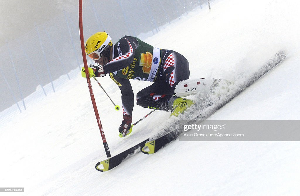 Ivica Kostelic of Croatia competes during the Audi FIS Alpine Ski World Cup Men's Slalom on November 11, 2012 in Levi, Finland.