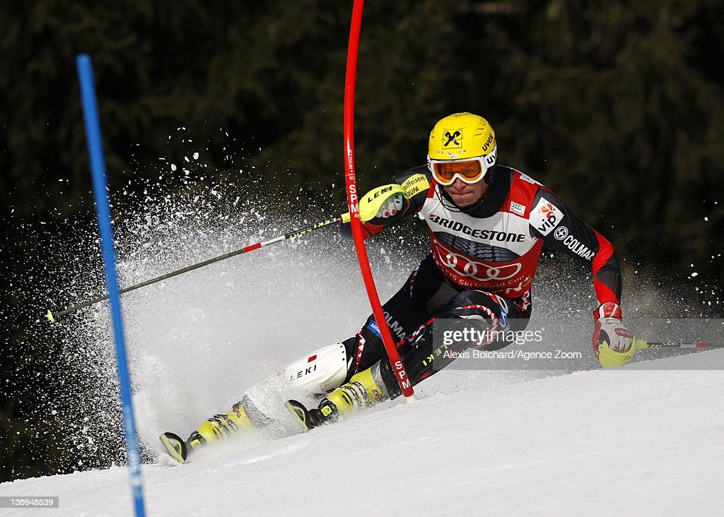 <a gi-track='captionPersonalityLinkClicked' href=/galleries/search?phrase=Ivica+Kostelic&family=editorial&specificpeople=241265 ng-click='$event.stopPropagation()'>Ivica Kostelic</a> of Croatia competes on his way to taking 1st place during the Audi FIS Alpine Ski World Cup Men's Super Combined on January 13, 2012 in Wengen, Switzerland.