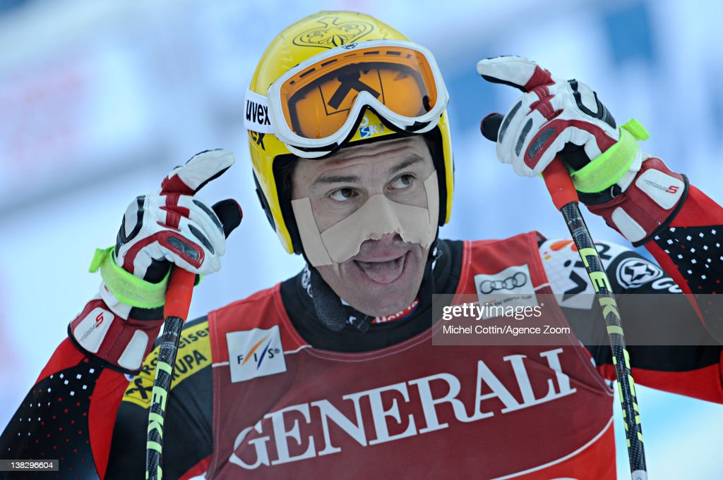 <a gi-track='captionPersonalityLinkClicked' href=/galleries/search?phrase=Ivica+Kostelic&family=editorial&specificpeople=241265 ng-click='$event.stopPropagation()'>Ivica Kostelic</a> of Croatia during the Audi FIS Alpine Ski World Cup Men's Super Combined on February 5, 2012 in Chamonix, France.