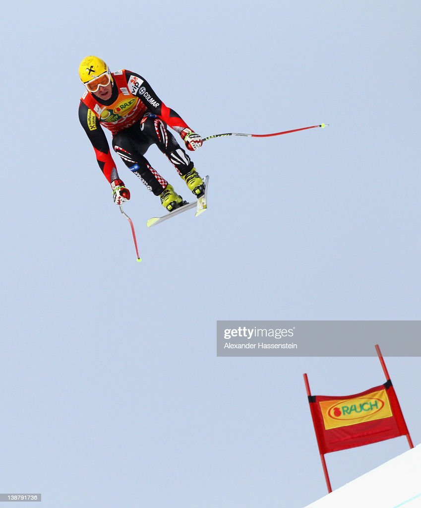 <a gi-track='captionPersonalityLinkClicked' href=/galleries/search?phrase=Ivica+Kostelic&family=editorial&specificpeople=241265 ng-click='$event.stopPropagation()'>Ivica Kostelic</a> of Croatia jumps on the Lake jump during the downhill part of the men's Alpine Skiing Audi FIS World Cup Super Combined event at Rosa Khutor Mountain Resort on February 12, 2012 in Sochi, Russia.