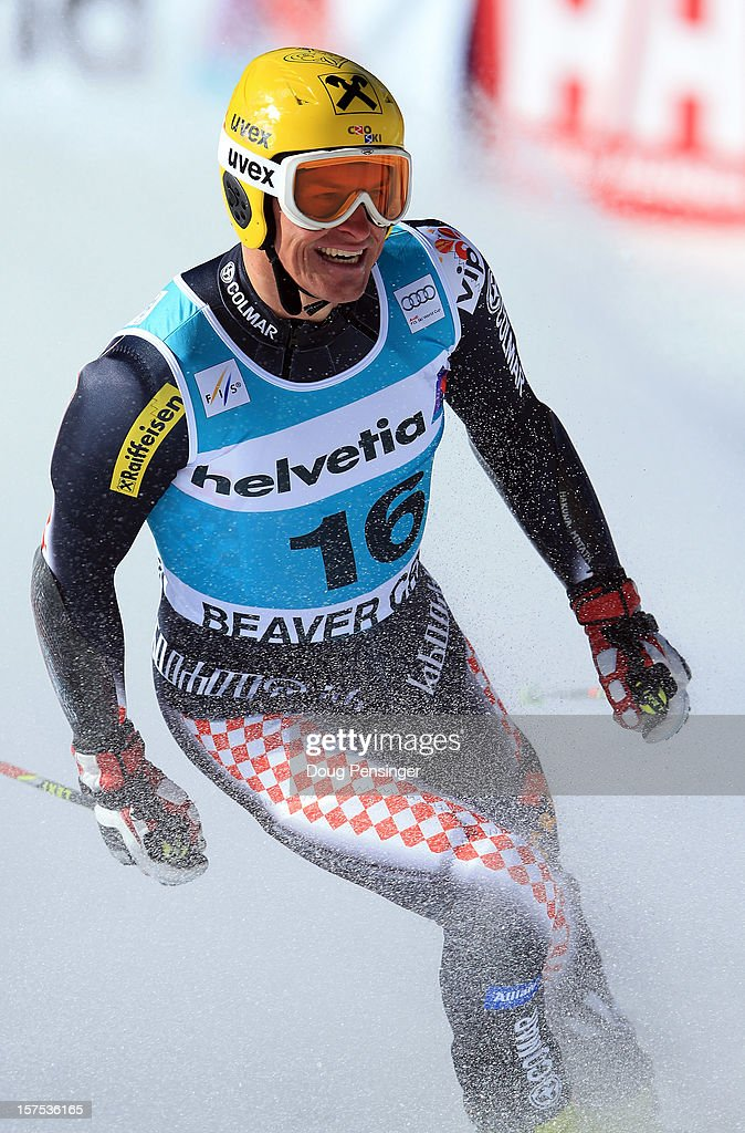 Ivica Kostelic of Croatia looks on after finishing 13th in the men's Giant Slalom at the Audi FIS World Cup on December 2, 2012 in Beaver Creek, Colorado.
