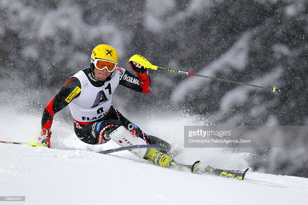 <a gi-track='captionPersonalityLinkClicked' href=/galleries/search?phrase=Ivica+Kostelic&family=editorial&specificpeople=241265 ng-click='$event.stopPropagation()'>Ivica Kostelic</a> of Croatia takes 1st place during the Audi FIS Alpine Ski World Cup Men's Slalom on December 21, 2011 in Flachau, Austria.