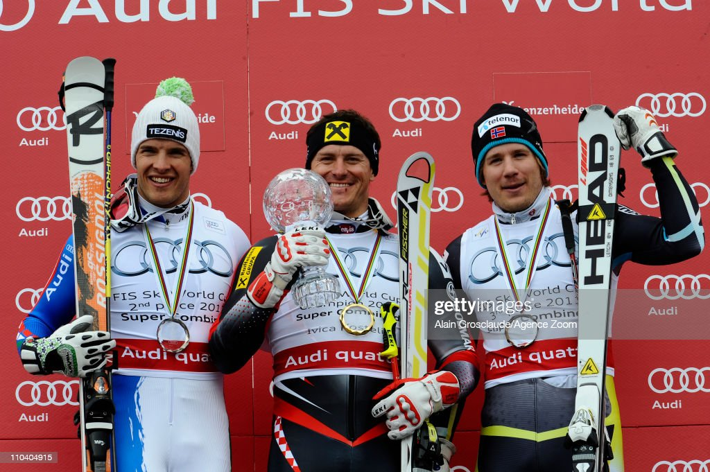 <a gi-track='captionPersonalityLinkClicked' href=/galleries/search?phrase=Ivica+Kostelic&family=editorial&specificpeople=241265 ng-click='$event.stopPropagation()'>Ivica Kostelic</a> of Croatia wins the Overall Combined World Cup, <a gi-track='captionPersonalityLinkClicked' href=/galleries/search?phrase=Christof+Innerhofer&family=editorial&specificpeople=4104734 ng-click='$event.stopPropagation()'>Christof Innerhofer</a> of Italy takes 2nd place and <a gi-track='captionPersonalityLinkClicked' href=/galleries/search?phrase=Kjetil+Jansrud&family=editorial&specificpeople=816480 ng-click='$event.stopPropagation()'>Kjetil Jansrud</a> of Norway takes 3rd place on March 18, 2011 in Lenzerheide, Switzerland.