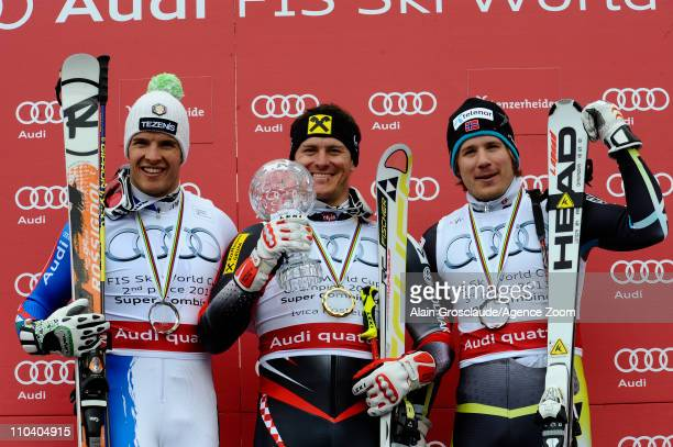 Ivica Kostelic of Croatia wins the Overall Combined World Cup Christof Innerhofer of Italy takes 2nd place and Kjetil Jansrud of Norway takes 3rd...