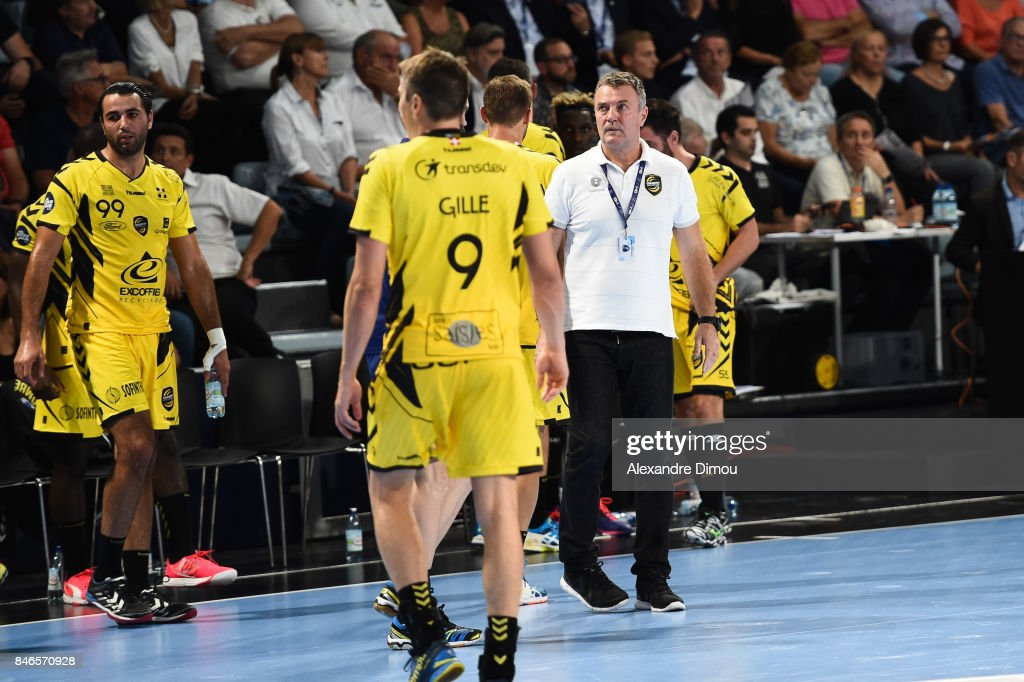Ivica Obvvan Coach of Chambery during Lidl Star Ligue match between Montpellier and Chambery on September 13, 2017 in Montpellier, France.