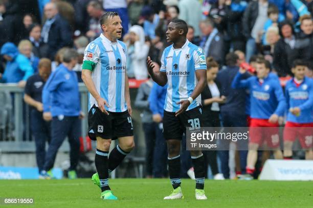 Ivica Olic of 1860 Munich Romuald Lacazette of 1860 Munich looks dejected during the Second Bundesliga match between TSV 1860 Muenchen and VfL Bochum...