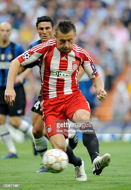 Ivica Olic of Bayern Munich during the UEFA Champions League Final match between Bayern Munich and Inter Milan at the Estadio Santiago Bernabeu on...