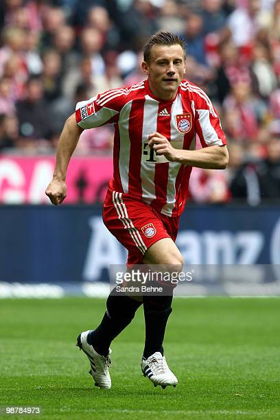 Ivica Olic of Bayern runs during the Bundesliga match between FC Bayern Muenchen and VfL Bochum at Allianz Arena on May 1 2009 in Munich Germany