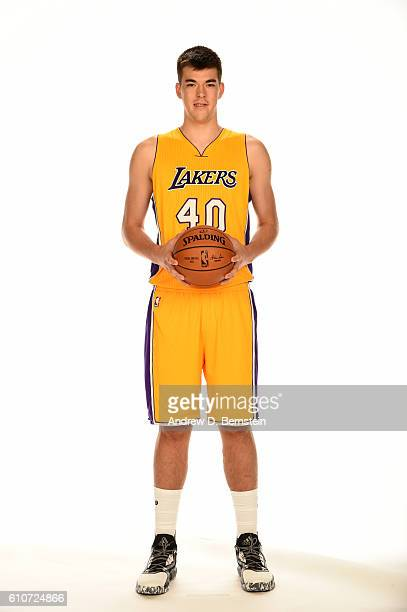 Ivica Zubac of the Los Angeles Lakers poses for a portrait during the 20162017 Los Angeles Lakers Media Day at Toyota Sports Center on September 26...
