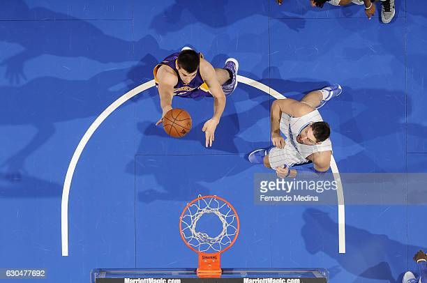 Ivica Zubac of the Los Angeles Lakers shoots the ball against the Orlando Magic on December 23 2016 at Amway Center in Orlando Florida NOTE TO USER...