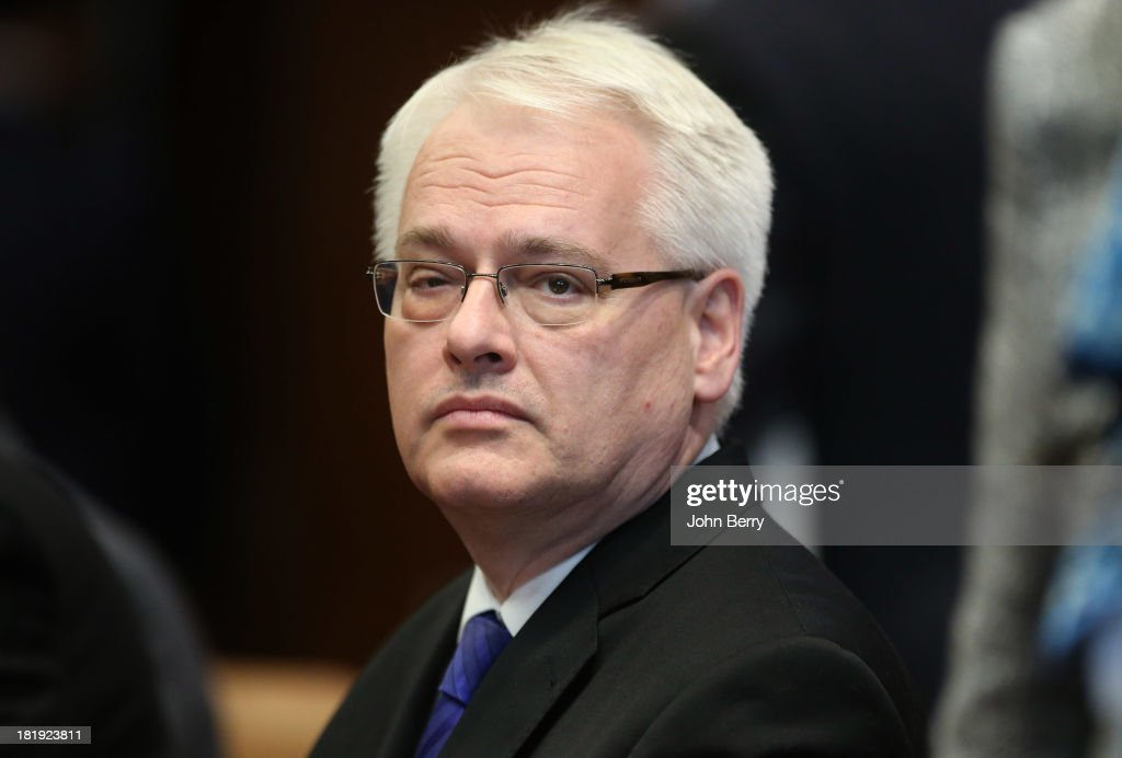 <a gi-track='captionPersonalityLinkClicked' href=/galleries/search?phrase=Ivo+Josipovic&family=editorial&specificpeople=6599425 ng-click='$event.stopPropagation()'>Ivo Josipovic</a>, President of Croatia attends the 68th session of the United Nations General Assembly on September 25, 2013 in New York City.