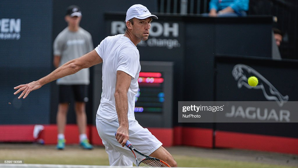 Ivo Karlovic lost to Gilles Muller after losing tie breakers twice during their two set match on Saturday 11th of June 2016 at the Ricoh Open Grass...